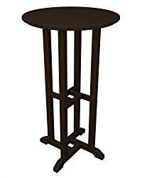 Traditional 24 inches Recycled Plastic Round Bar Height Table