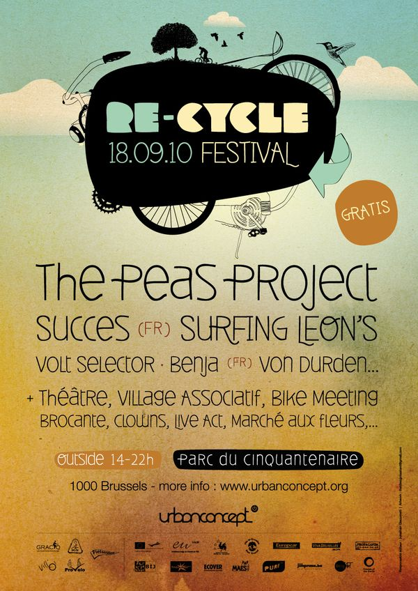 RE-CYCLE Festival - Flyer, Poster & Website by Roberto Salvador, via Behance