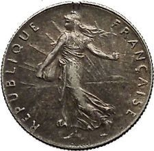 1919 France 50 Centimes OLD Silver SOWER La Semeuse French Coin Branch i53804