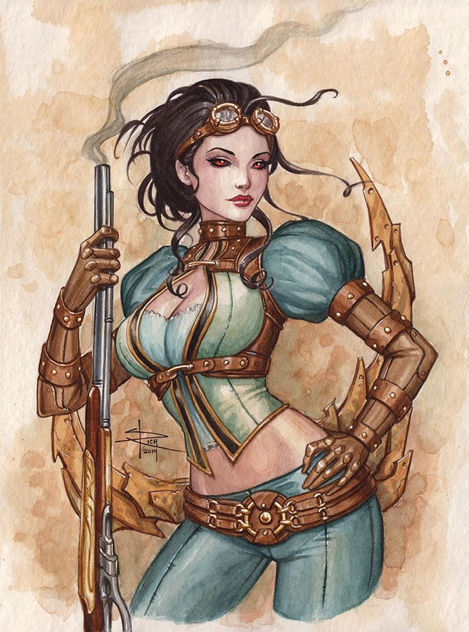Lady Mechanika - watercolor commission •Sabine Rich