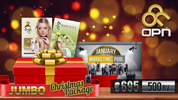 JUMBO Xmas Package 6 Units of the January Marketing Pool 2 x Zayn Moisturizing Set 3 x Sense and Soul Set  Price €695 with 500 BV  www.SiteTalk.com/bestinvestment