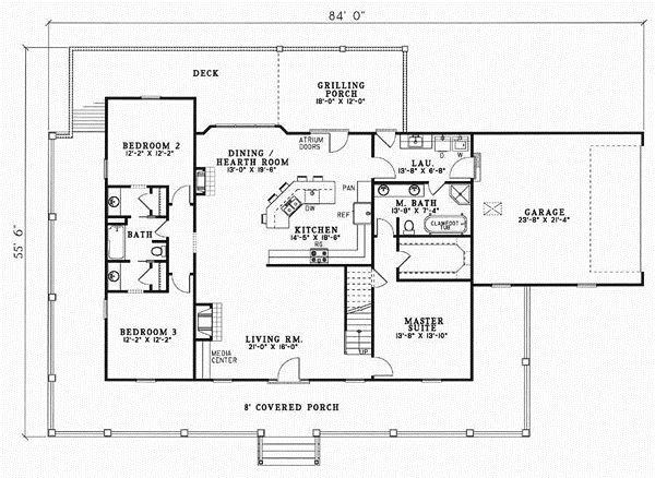 Interesting 2 Story Country House Plans Style Home Design 7316 In ...