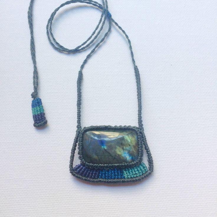 Labradorite necklace, macrame labradorite pendant necklace, boho jewelry, crystal jewelry, gemstone necklace Handmade necklace. Gift for her by NomadeMacrame on Etsy