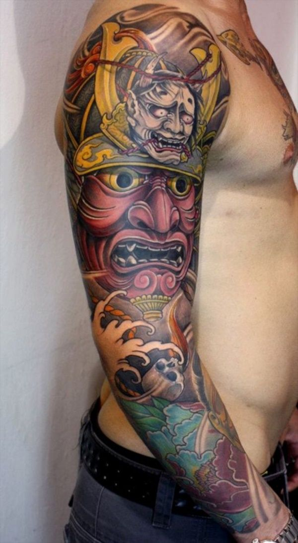 50 Cool Japanese Sleeve Tattoos for Awesomeness0351