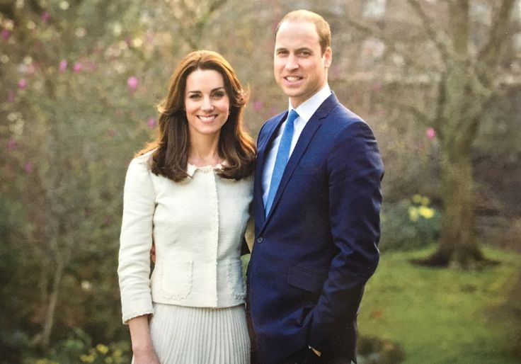 A more high quality picture of The Duke & Duchess of Cambridge's official portrait to thank individuals for writing to them marking their 5th Wedding Anniversary.