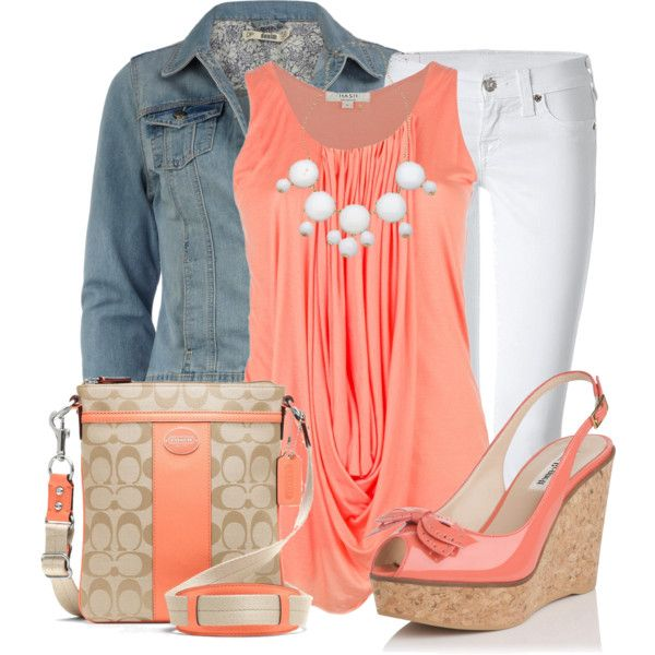Coral Crazy by pippimommy on Polyvore
