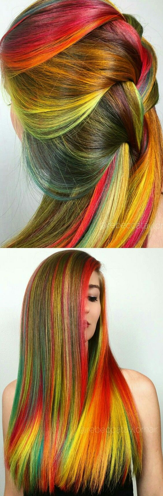 colored hair streaks