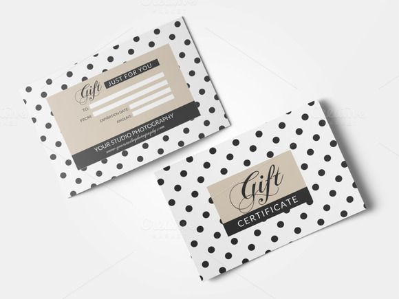 Gift card template by annago on Creative Market