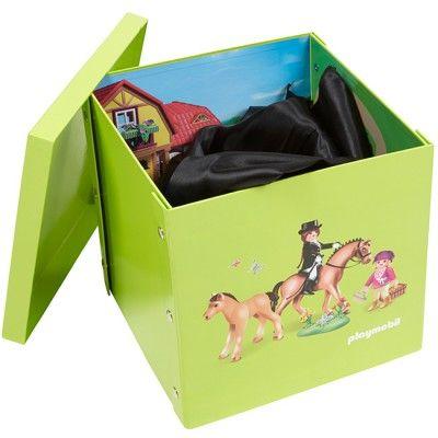 Boîte rangement tapis de jeu Playmobil Ferme - Rangement plastique - Dressing / Buanderie - Entretien / Rangement | GiFi