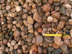 "Iowa Rainbow Creek Stone - Decorative Gravel. 1""-5"" size."