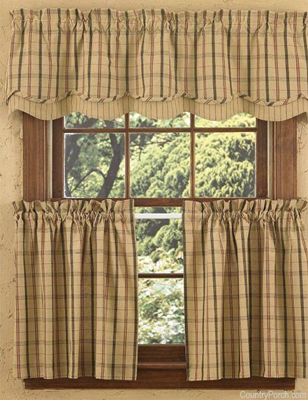 Adamstown Sand Layered Curtain Valance