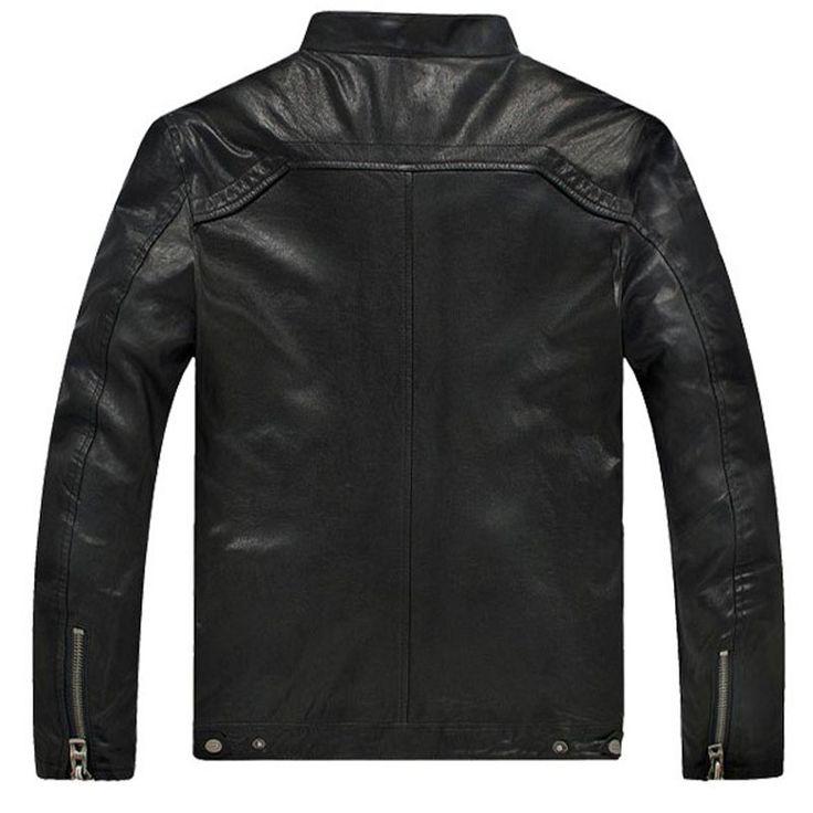 Hot Sale Factory Men Leather Jacket Genuine Real Sheepskin Leather Fashion Brand Short Man's Motorcycle Biker Coat Spring winter