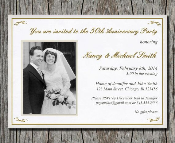 Cheap 50th Wedding Anniversary Invitations: 1000+ Ideas About 50th Anniversary Invitations On
