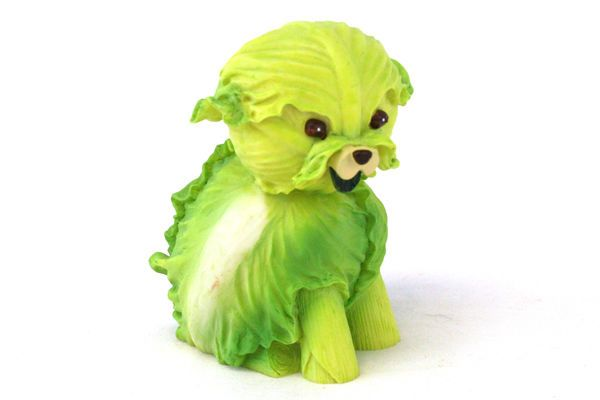 Green Lettuce Dog Home Grown Enesco 2004 Resin Figurine 4002362 Green Lettuce Green Gifts Enesco