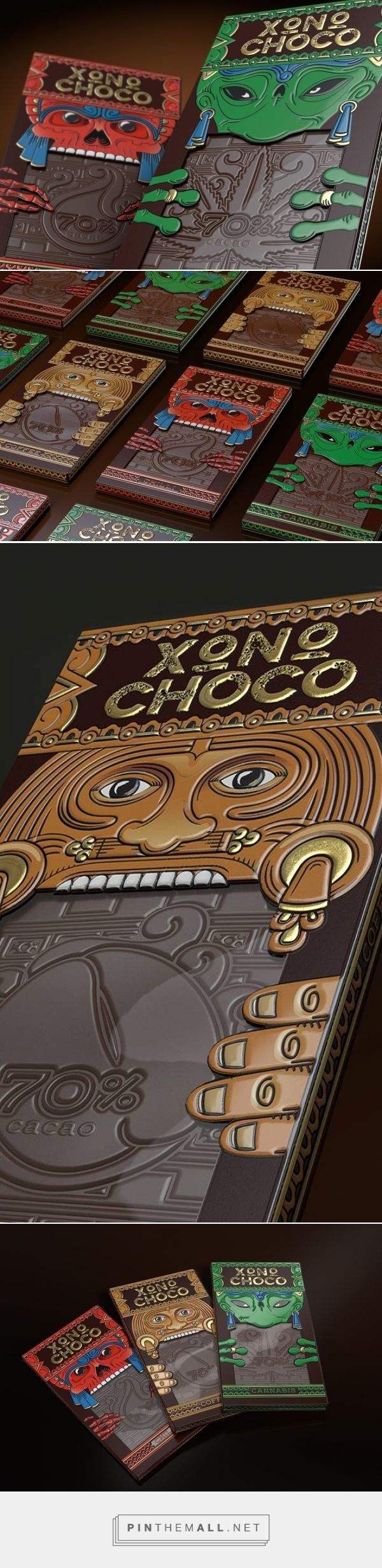 Xoconochco Chocolate concept packaging designed by Brand Brothers Russia (Russia) - http://www.packagingoftheworld.com/2016/03/xoconochco-chocolate-concept.html