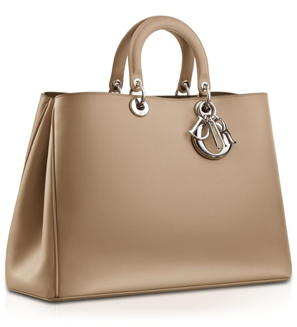 "Diorissimo- Large pale beige leather ""Diorissimo"" Bag"
