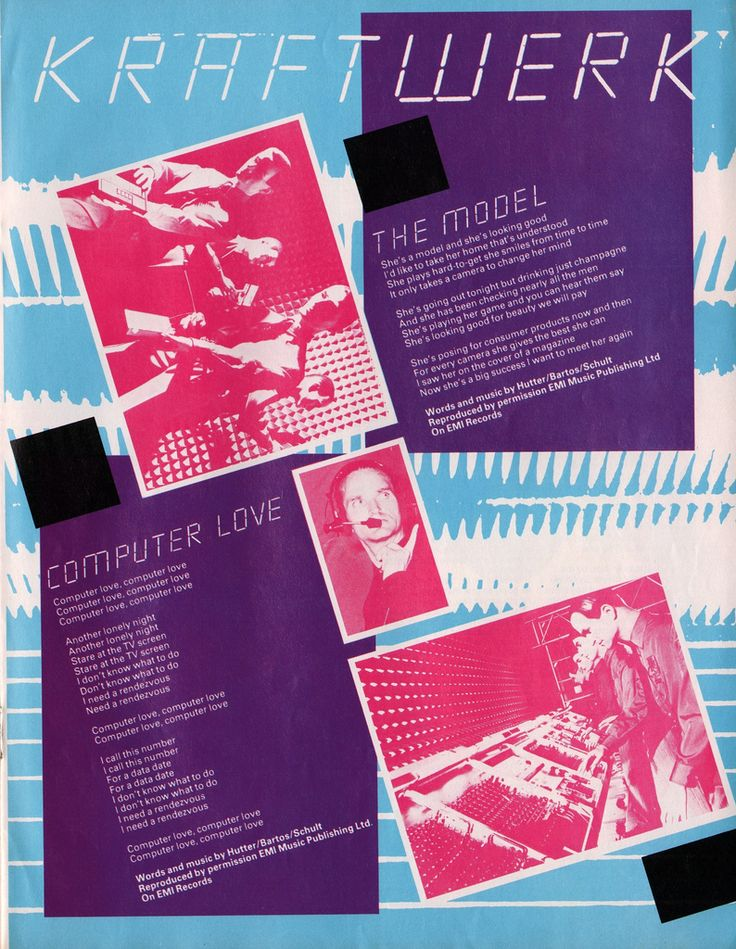 "Kraftwerk""Computer Love"" / ""The Model""6 February 1982."