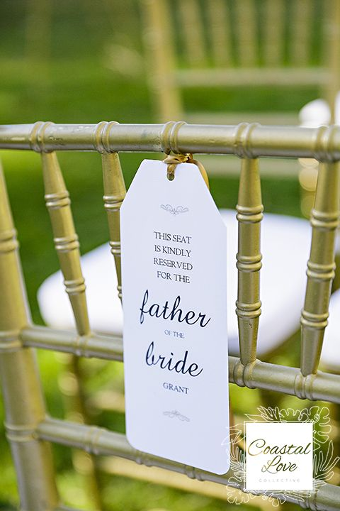 Reserved seating tags- wedding ceremony