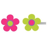 Little colorful flowers placed on your curtain rods.Serving as finials add to your imagination of being in a garden.