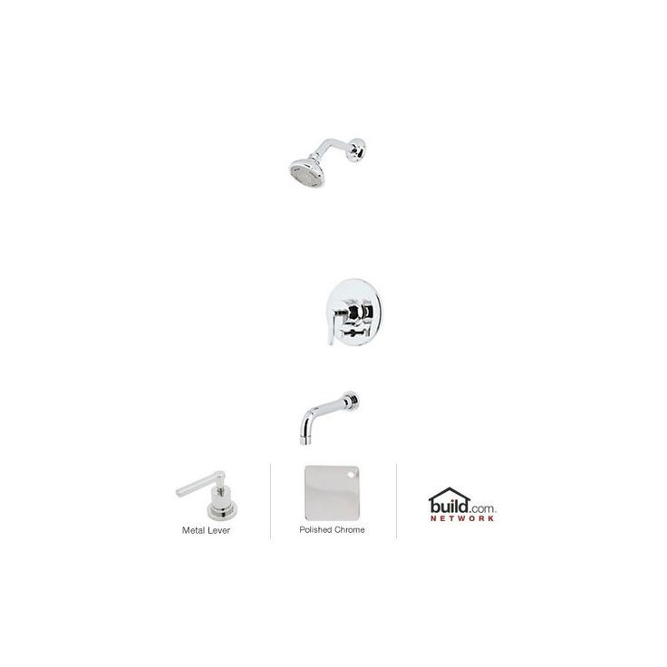 Rohl LOKIT21LM Lombardia Shower System with Shower Head Shower Arm Tub Spout Polished Chrome Faucet Shower System Single Handle