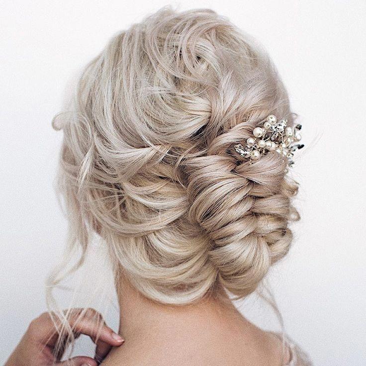 Elegante Hochzeitsfrisuren von @hairandmakeupbysteph #Hochzeiten #Frisuren #Hochzeit ..., #Hochzeit ...