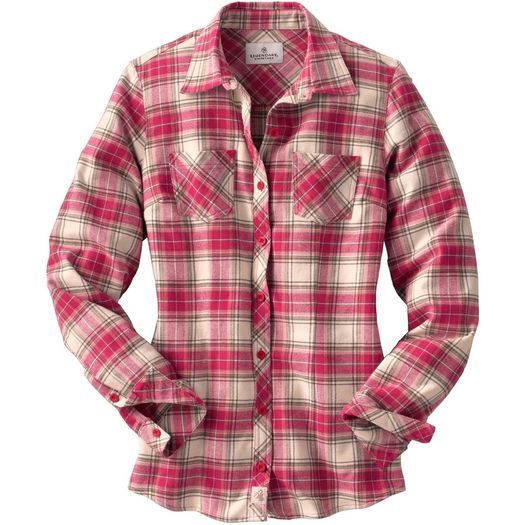 Women's Cabin Retreat Plaid Flannel Shirt at Legendary Whitetails.  Sandy likes very much.  Actually, I love flannel shirts.