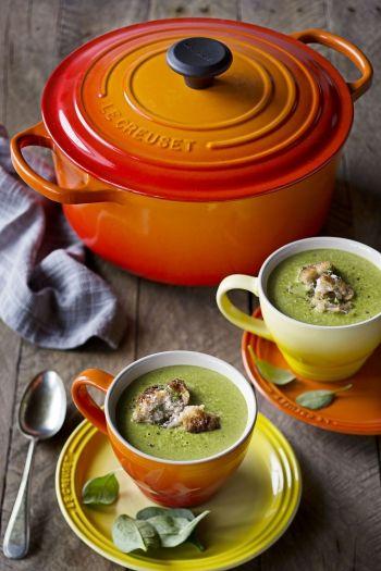 Brocolli and Spinach Soup recipe on www.nomu.co.za