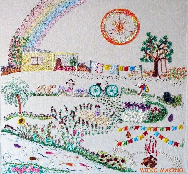 Ciranda Bordadeira: Felicidade é: bordar as lembranças da infância...T...