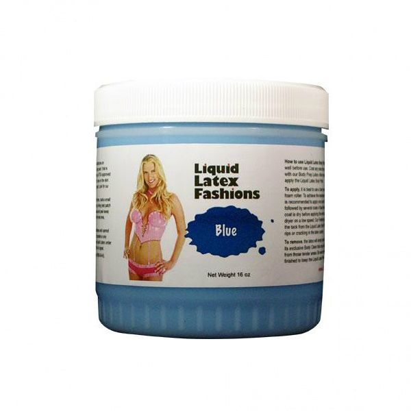 Liquid Latex Fashions Body Paint Blue 16 oz - For the imaginative individual ready to experiment in the ultimate art form, the premium quality Liquid Latex Body Cosmetic is the ultimate fantasy costuming product! Providing for all of your wildest costuming needs, your total satisfaction and delight is completely assured. With a little preparation and lots of creativity, Liquid Latex products can provide hours of head-turning fun and stimulating excitement.