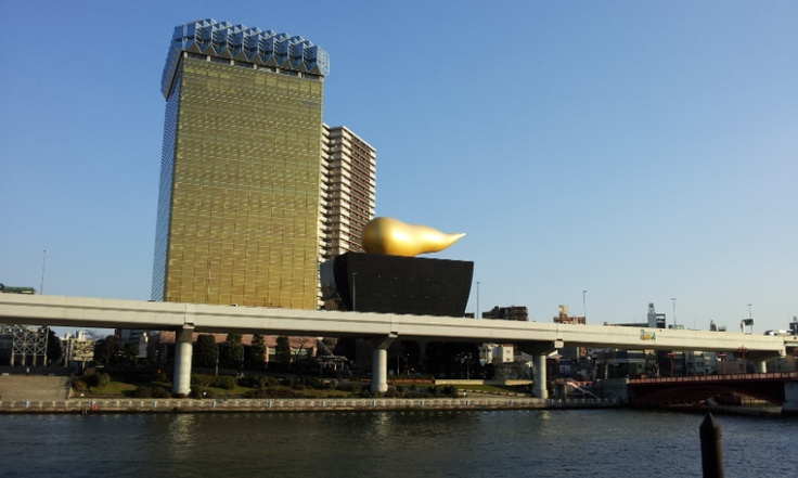 "Asahi Beer Tower ( but people call this tower "" Asakusa UN** building "" )"