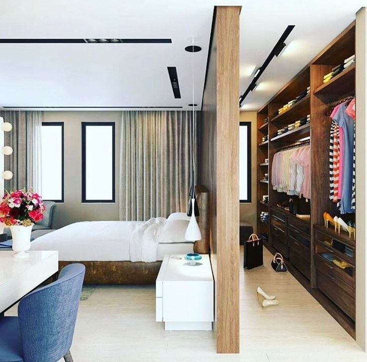 master bedroom with open plan dressing room