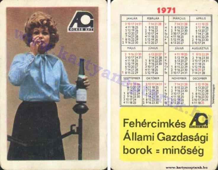 1971 - 1971_0566 - Régi magyar kártyanaptárak