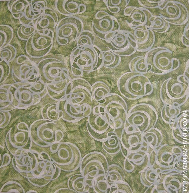 Textile motif design by Angela Kurnia. Color guache. #prints #textiledesign #art #painting #designer #green #lace