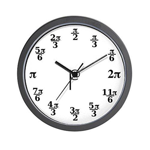 cafepress pi clock unique decorative 10 wall clock this is an amazon affiliate link - Feldstein Kaminsimse