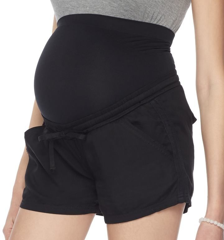 a glow Maternity a:glow Belly Panel Soft Shorts