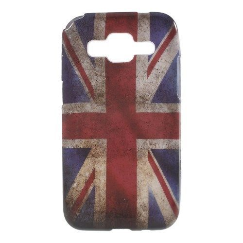 Mesh - Samsung Galaxy Core Prime Hoesje - Back Case Siliconen Vintage Britse Vlag | Shop4Hoesjes