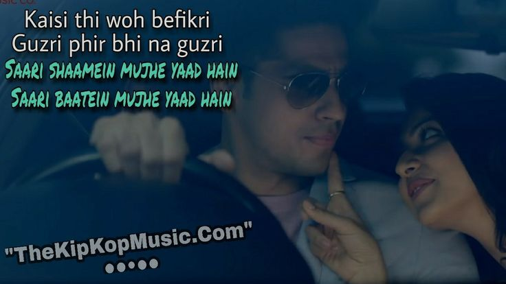 Yaad Hai Full Mp3 Song Download, Listening Online And HD YouTube Video Images With Lyrics Quotes- This Song Female Voice By Palak Muchal And Music Composed And Sung By Ankit Tiwari & Lyrics Written Manoj Muntashir - Aiyaary Movie Cast By Siddharth Malhotra New 2018 Bollywood Song Yaad Hai Lyrics Quotes