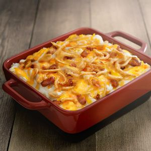 Check out this great recipe from French's: Crunchy Onion Bacon Potatoes!