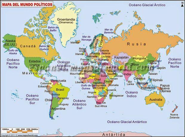 mapa mundi con nombres