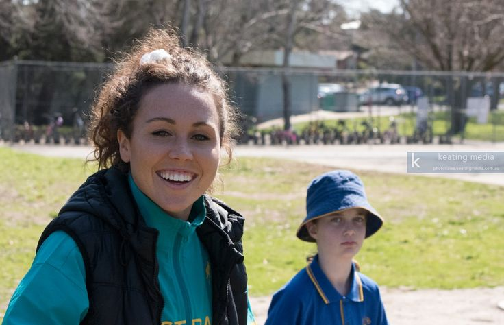 Chloe Esposito during an Australian Olympic Team visit to Giralang Primary…