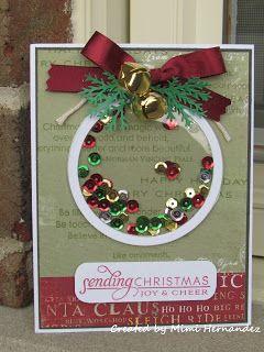 Navy Sis Creates: Christmas Shaker Card