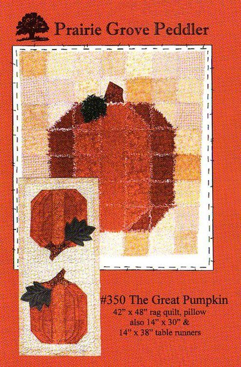 Rag Quilt Ideas Pinterest : Pinterest Quilt Pattern the great pumpkin rag quilt pattern QUILTS Pinterest Rag quilt ...