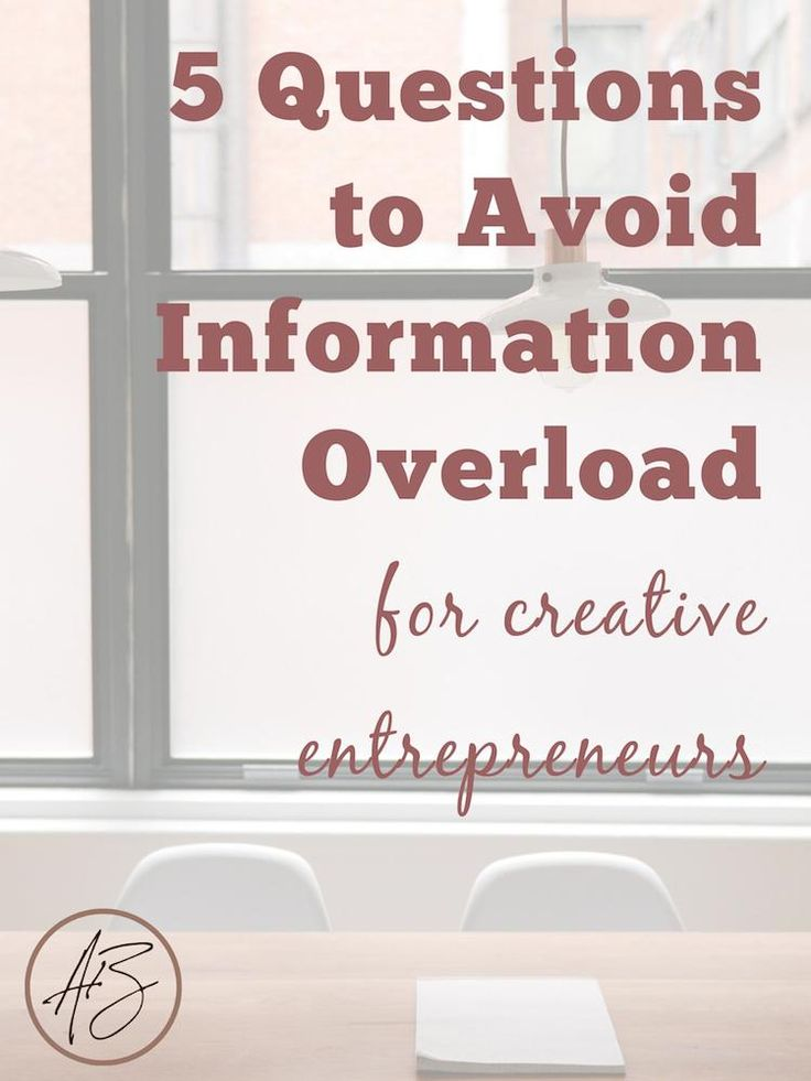 Do you ever find yourself stuck in your business because you spend all your time reading top advice in blog posts or courses? Stop! Your creative biz will never make it if you don't take action on what you learn. Use these 5 questions to avoid information overload as a creative entrepreneur.