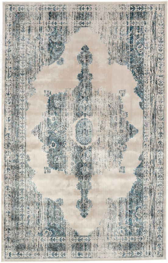$5 Off when you share! Beaumont Medallion VI05 Ivory Rug | Traditional Rugs #RugsUSA