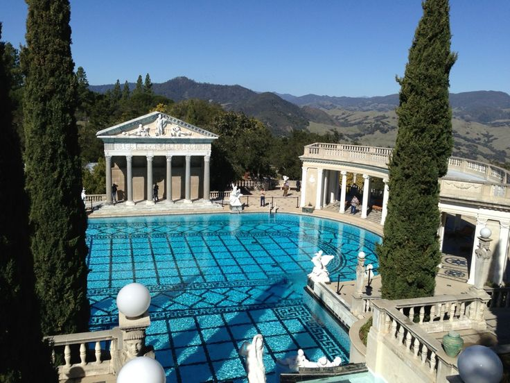 SAN SIMEON, USA: HEARST CASTLE. A monument to excess but what a monument
