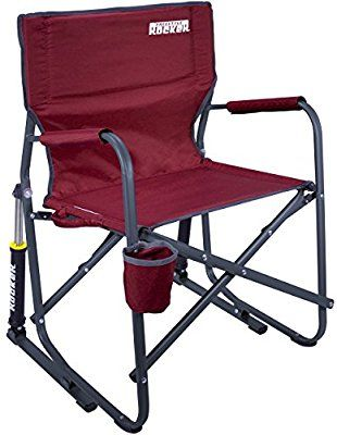 camping rocking chairs mexican pine dining table and amazon com gci outdoor freestyle rocker portable folding chair cinnamon sports outdoors