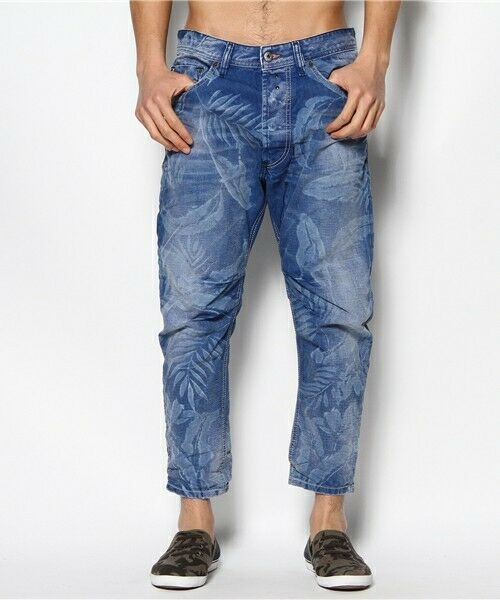 6466f025 NEW mens DIESEL NARROT 0812W Relax tapered carrot leg crop JEANS size W29  L32