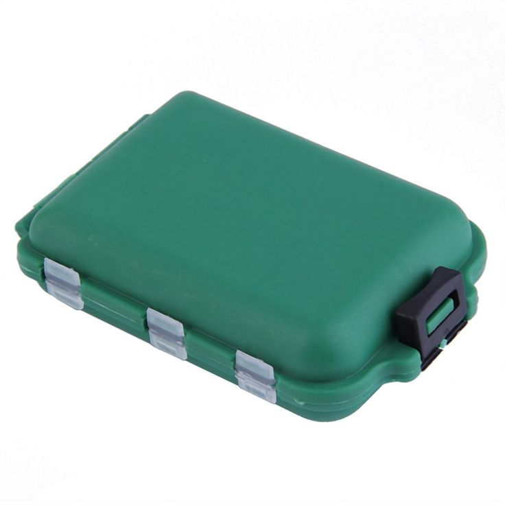 Delicate Army Green Plastic Fishing Tackle Boxes Hook Compartments Storage Case Outdoor Fishing Swivels Lure Bait Storing Tool