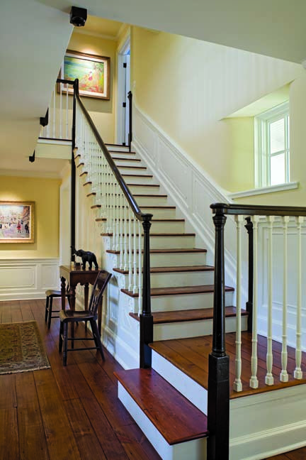 150 best dutch colonial images on pinterest home ideas for Farmhouse stairs