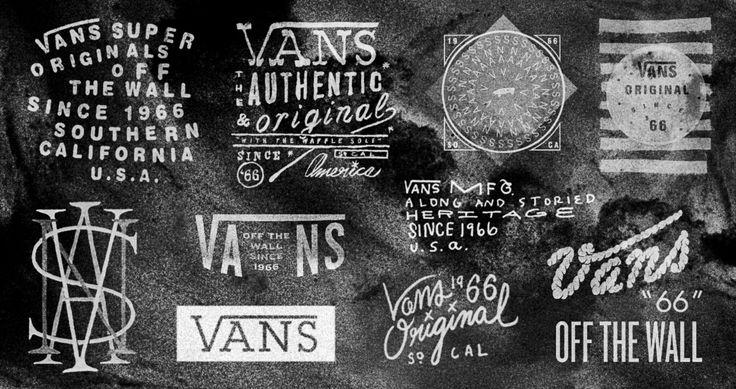 Vans typographic material, Caleb Owen Everitt